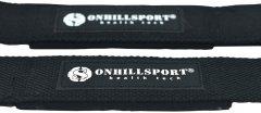 Лямки штангиста Onhillsport антискользящая стропа с подкладкой Черные (OS-03092)