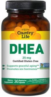 Тестостероновый бустер Country Life DHEA 25 мг 30 капсул (015794016687)