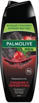 Гель для душа 4 в 1 Palmolive Men Очищение и Перезагрузка С природным углем для тела, волос, лица и бороды 500 мл (8718951410251)