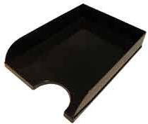 Лоток для бумаг КиП Пластиковый Горизонтальный 255 х 340 х 70 мм Черный (ЛГ-04черн.)