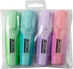 Набор текстовых маркеров с резиновыми вставками Buromax Pastel 2-4 мм 4 шт (BM.8905-94)