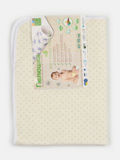 Пеленка впитывающая непромокаемая Эко Пупс Soft Touch Premium Звездочки Бежевая 65 х 90 см (EPG07W-6590bs) (2100033770074)