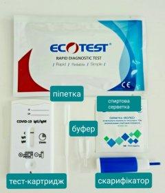 Експрес-тест ECOTEST COV-W23M для виявлення COVID-19, антитіла IgG/IgM №1