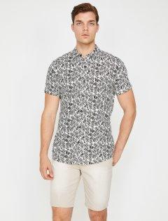 Рубашка Koton 8YAM61929LW-01V XL Black Design (8681890203638)