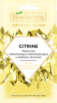 Маска для лица Bielenda Crystal Glow Цитрин Детокс Осветление 8 г (5902169042370)