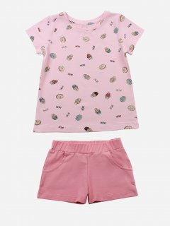 Комплект (футболка + шорты) Фламинго 043-420 104 см Розовый/Cake (4829960124955)