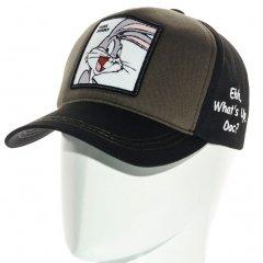 Бейсболка тракер котоновая кепка Unisex Bugs Bunny SUB21784 L / 57-58 RU Черная-хаки