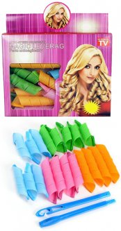 Волшебные бигуди Magic Leverag для волос средней длины 16 шт (2000992395410)