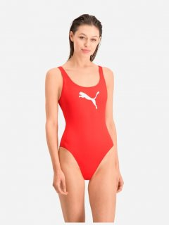 Купальник слитный женский Puma Swim Women Swimsuit 1P 90768502 M Red (8718824818641)