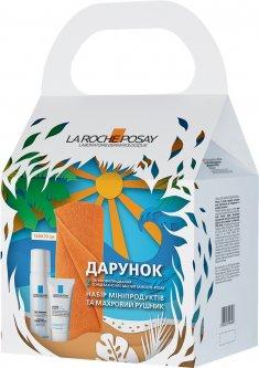 Набор La Roche-Posay: набор мини-продуктов и махровое полотенце (5902503596408)