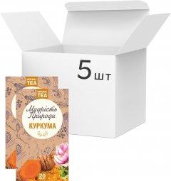 Упаковка Травяной чай в пакетиках Мудрость Природы Куркума 20 х 5 шт (4820167092276)