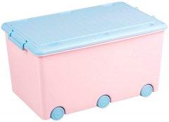 Ящик для игрушек Tega Rabbits Pink-blue (KR-010)