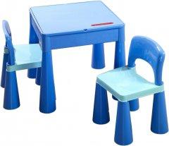 Комплект Tega Mamut Стол + 2 стула Синий (Tega MT-001 bl/l.bl 1799)
