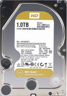 """Жесткий диск Western Digital Gold 1TB 7200rpm 128MB WD1005FBYZ 3.5"""" SATA III"""