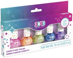 Набор лаков для ногтей Make It Real Цветное конфетти 5 шт х 8 мл (MR10012)