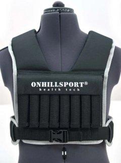 Жилет утяжелительный Onhillsport WORKOUT 8 кг (груз 0.5 кг -16 шт) (WK-16)
