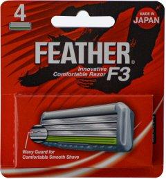 Сменные картриджи для бритья (лезвия) Feather F3 4 шт (4902470254128)