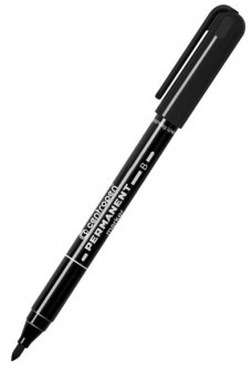 Набор перманентных маркеров Centropen 2 мм 10 шт Черный (2836/01)