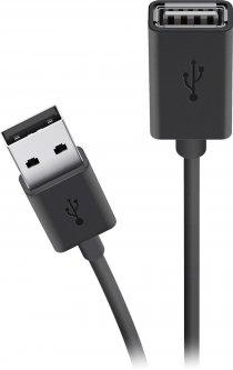 Кабель Belkin USB 2.0 (AM/AF) EXT 3 м Black (F3U153BT3M)