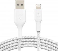 Кабель Belkin USB-A - Lightning Braided 2 м White (CAA002BT2MWH)