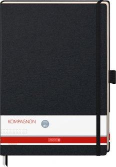 Записная книга Brunnen Компаньон А4 в точку 96 листов Черная (105528905)