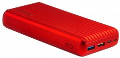 УМБ Promate Titan-30 30000 mAh 30Вт Type-C PD 18Вт USB QC3.0 USB 2.4А Red (titan-30.red)