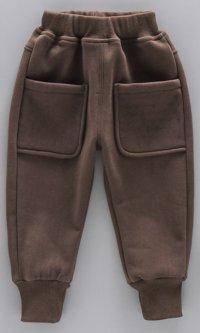 Дитячі спортивні штани з кишенями на резинці Колір коричневий 120см