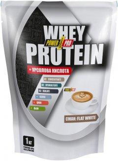 Протеин PowerPro Whey Protein 1 кг Flat White (4820214003941)
