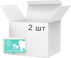 Упаковка зубочисток с освежающей нитью Manorm 2 пачки по 50 шт (ROZ6400105671)