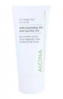 Alcina For Oily Skin флюїд для шкіри з вмістом AHA-кислот 10%, 50 мл