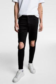 Джинси Zara чорні скіні демісезонні 38 (4060 300 800)