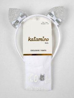 Колготки Katamino K60098 132-144 см White (8680652443862)