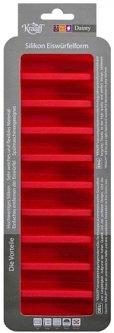 Силиконовая форма для льда Krauff 26x9.5x2.4 см Красная (26-184-071)