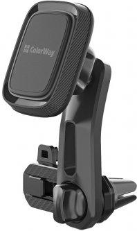 Автодержатель для телефона магнитный СolorWay Air Vent-3 Gray (CW-CHM07-GR)