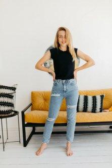Жіночі джинси Houseshop HS:17 31 Синя варка (SH:17 - 12611)