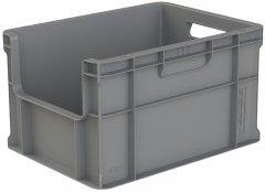 Ящик пластиковый сплошной Полимерцентр 400x300x230 мм Серый (ST4323-1110-GY)