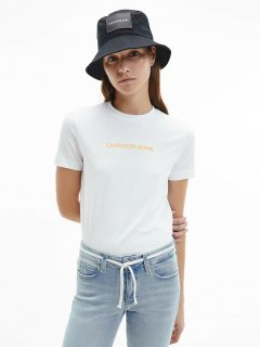 Футболка Calvin Klein Jeans Shrunken Institutional Tee J20J215322-YAF XS Ck White (8719853580981)