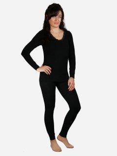 Комплект женского термобелья Supretto 5656-0001 44-52 Черный (2000100048009)