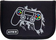 Пенал с наполнением Kite Education Gamer 1 отделение 2 отворота Черный Джинс (K21-622H-4)
