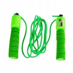 Спортивная скакалка со счетчиком, цвет зеленый (HOP-5732006)