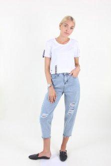 Штани WIQIQI 1280 джинс (Синій XL)