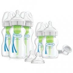 Комплект антиколиковых бутылочек для новорожденного Options+