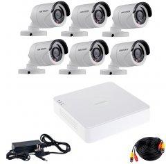 Комплект видеонаблюдения Hikvision Turbo HD-6W KIT