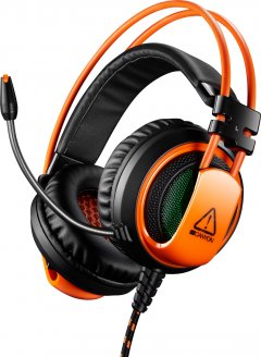 Игровые наушники Canyon Corax Black/Orange (CND-SGHS5A)