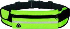 Спортивная сумка для бега на пояс Xiamen RanBag 20х10х2 см Зеленый (PH050304)