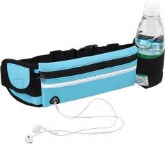 Спортивная сумка для бега на пояс Xiamen RanBag с карманом на бутылку 20х10х2 см Синий (PH0503010)