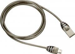 Кабель Canyon USB - microUSB 1 м Black-Grey (CNS-USBM5DG)