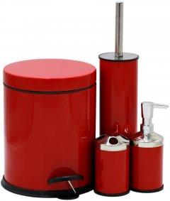 Набор аксессуаров для ванной комнаты PROFF Red PF2601955 4 предмета