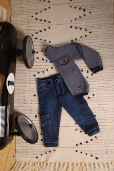 Джинси для хлопчиків манжет зима Pitiki kids 720 86 см Темно-синій (2000903712800)