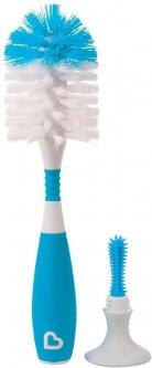 Ершик Munchkin Bristle 2 в 1 для чистки бутылочек и сосок Голубой (011043.03)